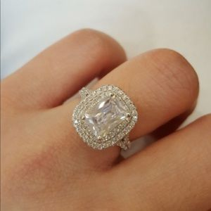 fdcc52200 Jewelry - (Size 6) real 925 silver wedding ring